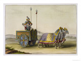 Ancient Chinese War Chariot, Le Costume Ancien et Moderne, c.1820-30 Giclee Print by Giovanni Bigatti