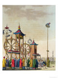 Chinese Circus, Illustration from Le Costume Ancien et Moderne, c.1820-30 Giclee Print by Gaetano Zancon