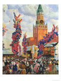 Easter Market at the Moscow Kremlin, 1917 Giclee Print by B. M. Kustodiev