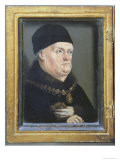 The Matheron Diptych: Portrait of Rene I Lámina giclée por Nicolas Froment