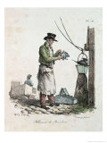 The Lamplighter, Engraved by Francois Seraphin Delpech Giclée-Druck von Antoine Charles Horace Vernet