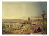 Coalmines and Clay Quarries at Montchanin Giclee Print by Ignace Francois Bonhomme