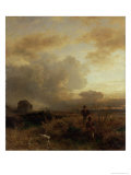 Clearing Thunderstorm in the Countryside, 1857 Reproduction procédé giclée par Oswald Achenbach