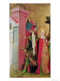 St. Barbara Locked in a Tower by Her Father, from the St. Barbara Altarpiece Giclee Print by Master Francke