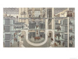 Cross-Section of the Basement of the Credit Lyonnais, 19 Boulevard Des Italiens, c.1878-82 Giclee Print
