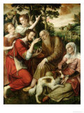Tobias Curing His Father's Blindness, 1563 Giclee Print by Jan Metsys