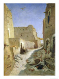 The Bab-El-Gharbi Road, Laghouat, 1859 Reproduction procédé giclée par Eugene Fromentin