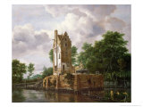 View of Kostverloren Castle on the Amstel Giclee Print by Jacob Isaaksz. Or Isaacksz. Van Ruisdael