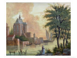 Promenade Along the Riverbank, 1821 Giclee Print by Charles Pierre Baudelaire
