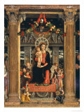 Virgin and Child with Angels, Central Panel from the Altarpiece of St. Zeno of Verona, 1456-60 Giclee Print by Andrea Mantegna