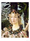 Flora, Detail from the Primavera, c.1478 Giclee Print by Sandro Botticelli
