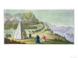 Herding Reindeer, Lapland, Plate 47, Le Costume Ancien et Moderne Giclee Print by G. Bramati
