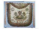 Masonic Apron with Various Symbols Giclee Print