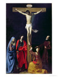 Christ on the Cross with the Virgin, Mary Magdalene, St. John and St. Francis of Paola Giclee Print by Nicolas Tournier