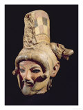 Head of a Warrior Wearing a Helmet, from Satricum Giclee Print by  Etruscan