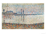 Study For 'The Channel at Gravelines, Evening', 1890 Giclee Print by Georges Seurat