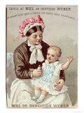 Advertisement For Weber Teething Gel, c.1880-90 Giclee Print