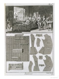 Tailor's Workshop and Patterns, from the 'Encyclopedie Des Sciences et Metiers' by Denis Diderot Giclee Print