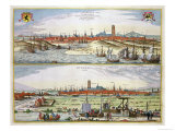 The City of Dunkirk During the Spanish Occupation, Published in Amsterdam, 1649 Giclee Print by Joan Blaeu