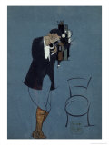 Self-Portrait at the Telephone, 1920 Giclee Print by Nikolai Nikolaevich Popov