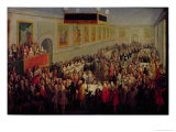 Feast Given After the Coronation of Louis XV Giclee Print by Pierre-Denis Martin