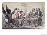 The Doctor and His Friends, Engraved by Issac Cruikshank Reproduction procédé giclée par George Moutard Woodward
