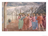 The Tribute Money, from the Brancacci Chapel, c.1426 Giclee Print by Tommaso Masaccio