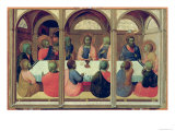 The Last Supper, from the Arte Della Lana Altarpiece, c.1426 Giclée-tryk af Sassetta