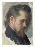 Portrait of the Author Nikolay Pomyalovsky, 1860 Reproduction procédé giclée par Nikolai Vasilievich Nevrev