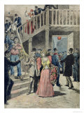 The Arrest of Prostitutes in Parisian Hotels, from Le Petit Journal, 4th August 1895 Giclee Print by Henri Meyer