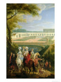 View of the Orangerie at Versailles, After 1697 Giclee Print by Pierre-Denis Martin
