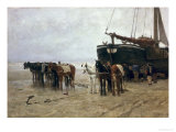 Boat on the Beach at Scheveningen, 1876 Giclee Print by Anton Mauve