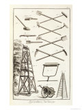 Gardening Tools and a Mobile Pruning Platform, Encyclopedie Des Sciences et Metiers D.Diderot Giclee Print
