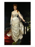 Portrait of Mademoiselle X, 1873 Giclee Print by Charles Émile Carolus-Duran
