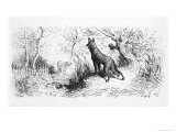 The Wolf and the Lamb, Illustration from Fables by Jean de La Fontaine Giclee Print by Gustave Doré
