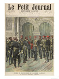 Return of Grand Cordon of the Legion of Honour to New Khedive of Egypt, Le Petit Journal, 1892 Giclee Print by Henri Meyer