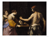 Salome Receiving the Head of St. John the Baptist, 1637 Giclee Print by  Guercino