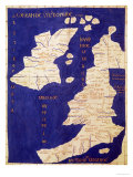 Map of the British Isles, from Geographia Giclee Print by  Ptolemy
