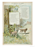 The Dog and the Wolf, from Fables by Jean de La Fontaine Giclee Print by Georges Fraipont