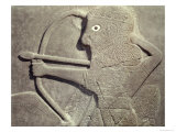 Relief Depicting a Hunter, from Tell-Halaf, Syria Reproduction procédé giclée par Assyrian