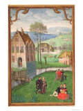 April: Courting Couples, from a Book of Hours, c.1540 Giclee Print by Simon Bening