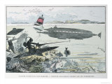 Underwater Manoeuvres, from Le XXeme Siecle, La Vie Electrique, c.1890 Giclee Print by Albert Robida