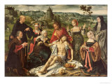 The Lamentation of Christ, Central Panel from an Altarpiece Giclee Print by Joos Van Cleve