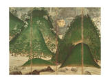 Spring Landscape with Sun, Part of a Six Panel Folding Screen Giclee Print