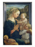 Madonna and Child with Angels, c.1455 Giclee Print by Fra Filippo Lippi