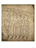 Pavement of St. John the Evangelist, Detail of Five Crusaders, 1213 Giclee Print by  Byzantine