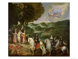 Allegory of the Marriage of Louis XIV Giclee Print by Claude Deruet