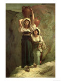 The Girls of Alvito, 1855 Giclee Print by A. Herbert