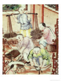 Detail from a Vase Depicting Artisans Giclee Print by Ming Dynasty Chinese School