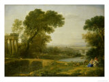 The Rest on the Flight Into Egypt Giclee Print by Claude Lorrain